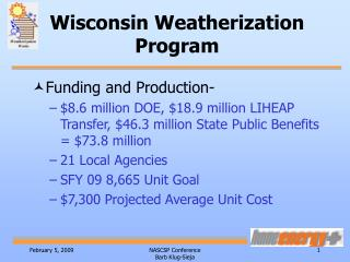 Wisconsin Weatherization Program
