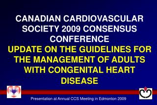 Presentation at Annual CCS Meeting in Edmonton 2009