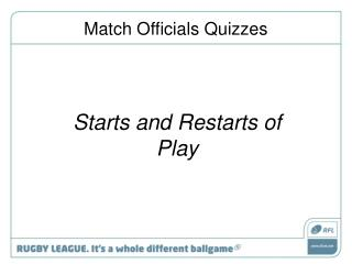 Match Officials Quizzes