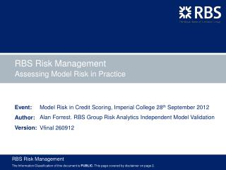Assessing Model Risk in Practice