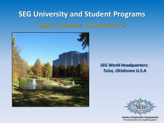 SEG University and Student Programs