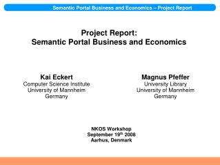 Project Report: Semantic Portal Business and Economics