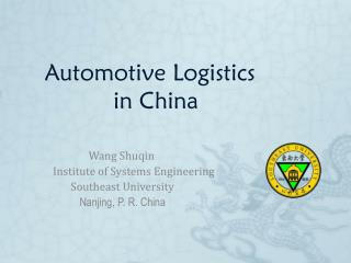 Automotive Logistics            in China