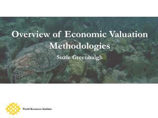Overview of Economic Valuation Methodologies  Suzie Greenhalgh
