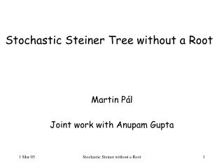 Stochastic Steiner Tree without a Root