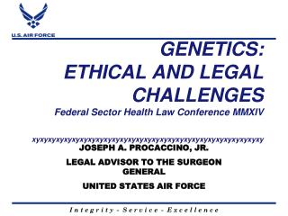 JOSEPH A. PROCACCINO, JR. LEGAL ADVISOR TO THE SURGEON GENERAL  UNITED STATES AIR FORCE