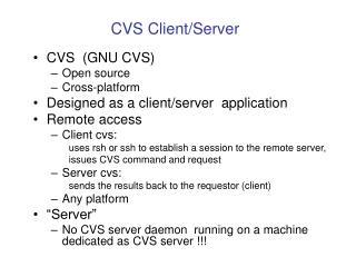 CVS Client/Server