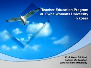 Teacher Education Program  at  Ewha Womans University  in korea