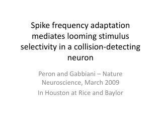 Spike frequency adaptation mediates looming stimulus selectivity in a collision-detecting neuron