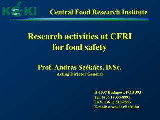 Central Food Research Institute