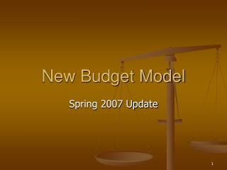 New Budget Model