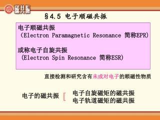 §4.5 电子顺磁共振