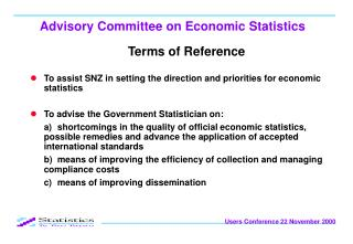 Advisory Committee on Economic Statistics