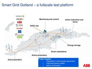 Smart Grid Gotland – a  fullscale  test platform