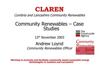 CLAREN Cumbria and Lancashire Community Renewables