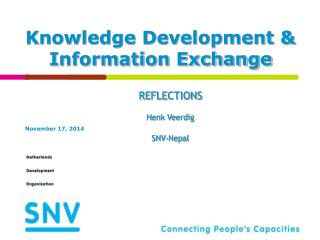 Knowledge Development & Information Exchange