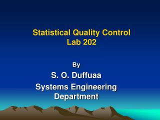 Statistical Quality Control  Lab 202