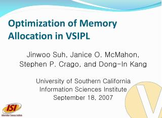 Optimization of Memory Allocation in VSIPL