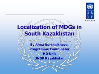 Localization of MDGs in South Kazakhstan