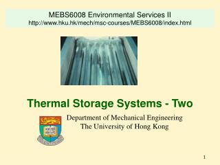 Thermal Storage Systems - Two