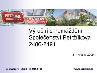 Výroční shromáždění Společenství Petržílkova 2486-2491