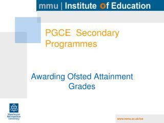 PGCE  Secondary Programmes