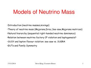 Models of Neutrino Mass