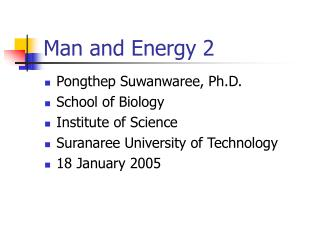Man and Energy 2