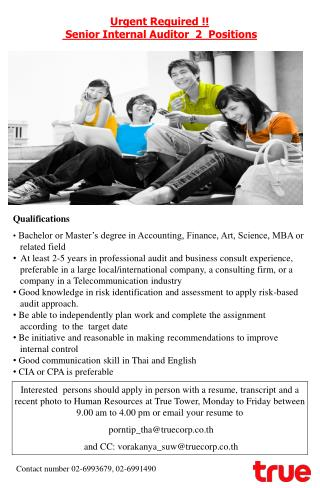 Bachelor or Master's degree in Accounting, Finance, Art, Science, MBA or     related field