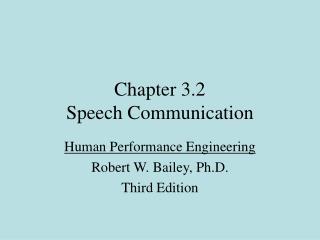 Chapter 3.2  Speech Communication