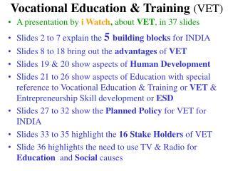 Vocational Education & Training  (VET)