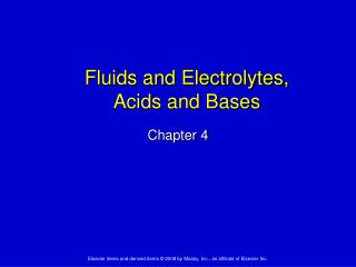 Fluids and Electrolytes,  Acids and Bases