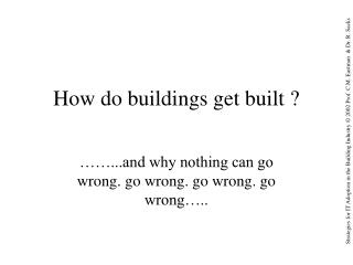 How do buildings get built ?
