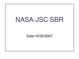 NASA-JSC SBR