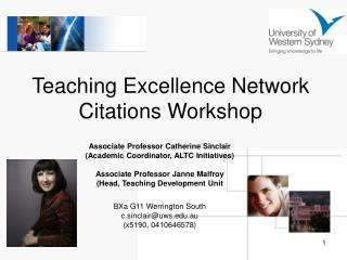 Teaching Excellence Network Citations Workshop