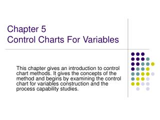 Chapter 5 Control Charts For Variables