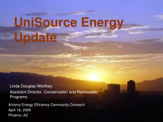 UniSource Energy Update