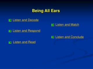 Listen and Decode
