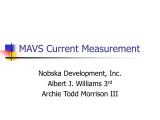 MAVS Current Measurement