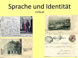 Sprache und Identit t H.Pfandl