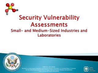 Security Vulnerability Assessments Small- and Medium-Sized Industries and Laboratories