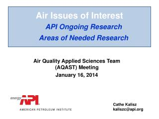 Air Issues of Interest