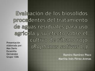 Ramiro Ramírez Pisco  Martha Inés Pérez Arenas