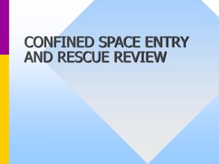 CONFINED SPACE ENTRY AND RESCUE REVIEW