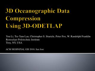 3D Oceanographic Data Compression Using 3D-ODETLAP