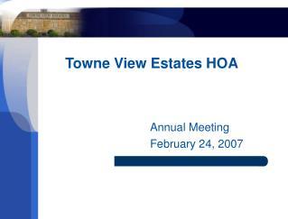 Towne View Estates HOA