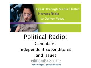 Political Radio:Candidates Independent Expenditures and Issues
