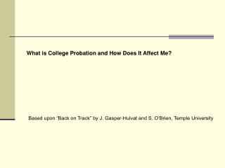 What is College Probation and How Does It Affect Me