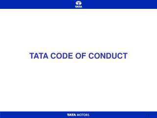 TATA CODE OF CONDUCT