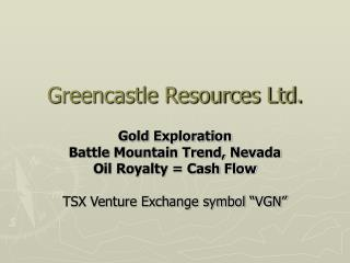 Greencastle Resources Ltd.